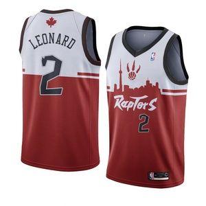 Toronto Raptors Kawhi Leonard Red City Jersey